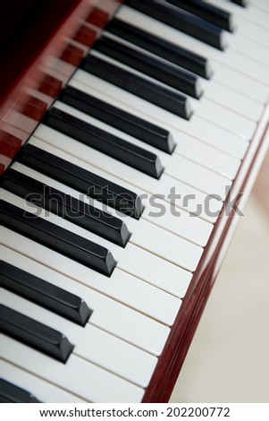Background of White and Black Piano Keys
