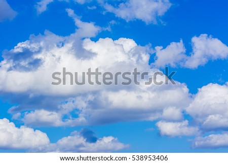 Background of white cloudy against blue sky in Istanbul, Turkey