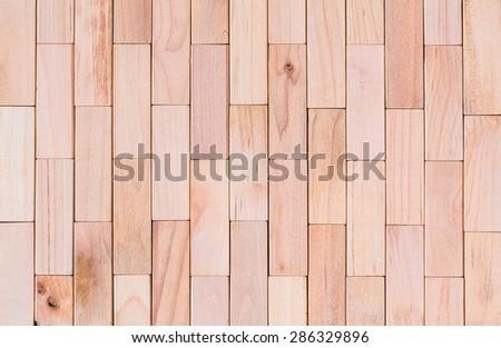 Background of Wooden Blocks - stock photo