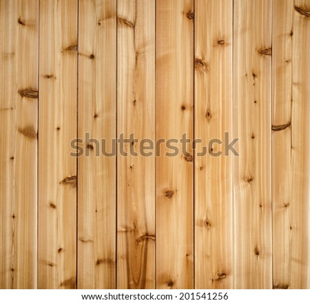 Background of wooden red cedar planks showing woodgrain texture - stock photo