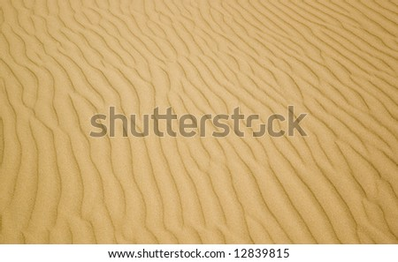 Background of yellow sand on the beach