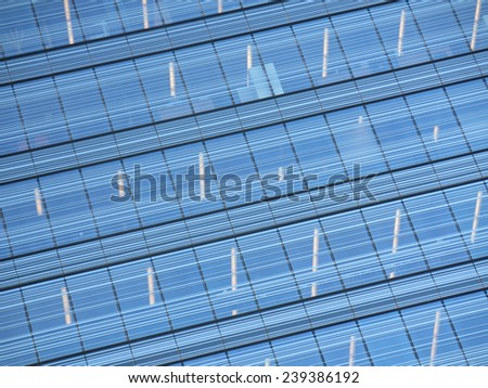Background office building with blue crystals - stock photo