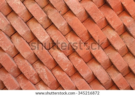 background old brick red - stock photo
