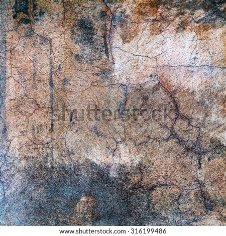 Background old cracked walls of the building - space for text or image  - stock photo