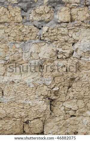 Background old mud wall 03 - stock photo