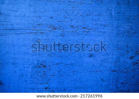 Background. Old, vintage, blue plywood. - stock photo