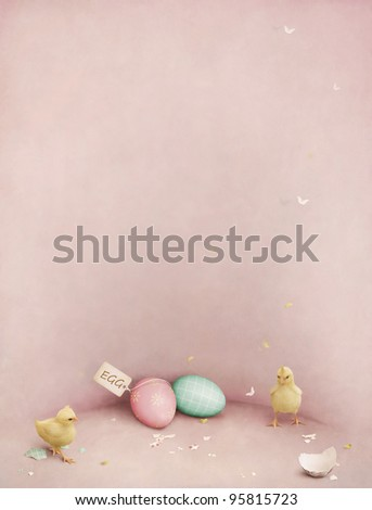 Background, or a poster or a greeting card for Easter. - stock photo