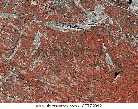 background or texture old scraped plaster wall red - stock photo