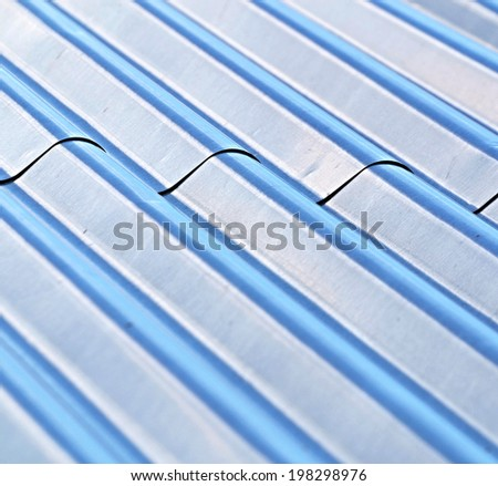 background or texture roof with corrugated steel - stock photo