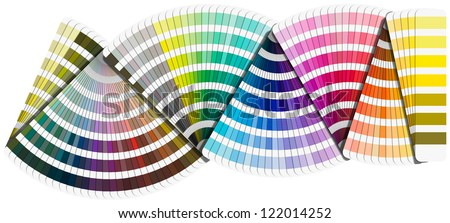 Background Pantone color palette guide isolated on white background - stock photo