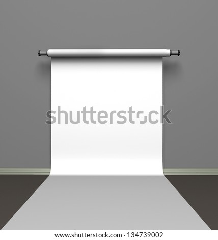 Background paper in photo studio - stock photo