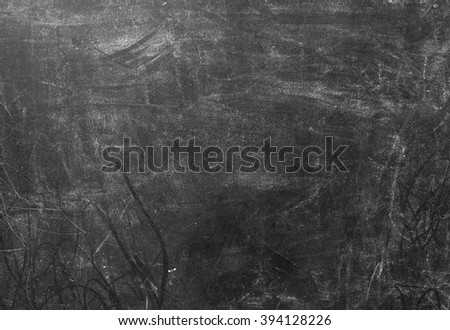 Background Pattern, Black Dirty and Dusty Chalkboard Background or Texture with Copy Space for Text Decorated. - stock photo