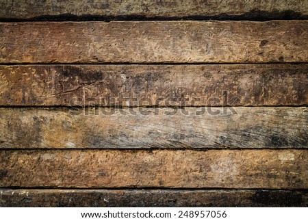 background pattern detail of old  wood stripe texture on decorative surface wall - stock photo