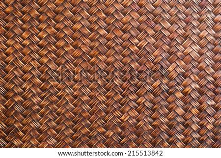Background pattern of bamboo handicraft. - stock photo