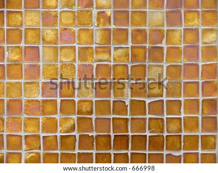 Background Pattern of Orange and Cooper Glass Tiles
