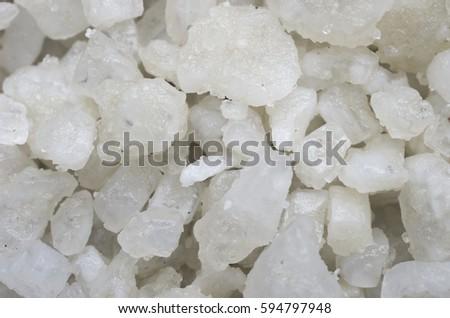 Background pieces of white sea salt