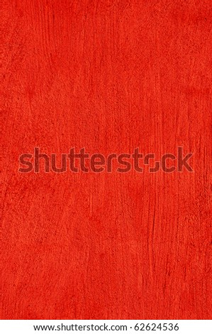 Background plastered wall in red - stock photo