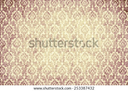 background - red ornament frame - stock photo