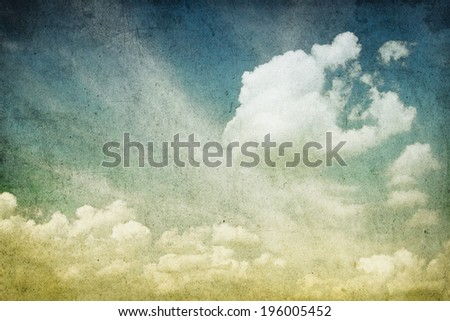 background retro image of cloudy sky