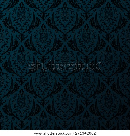 background retro seamless vintage wallpaper - stock photo