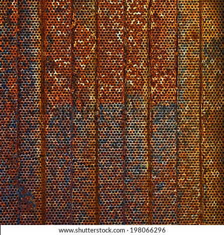 Background rust square  - stock photo