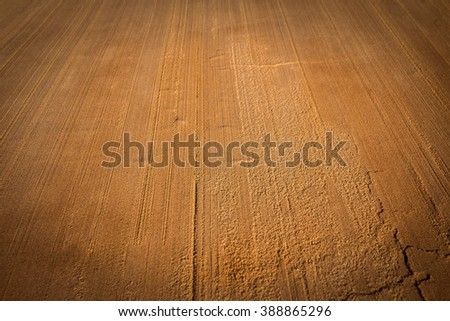 background sand. dysfunctional wet sand. space for text. - stock photo