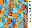 background seamless water abstract blue orange watercolor design ink - stock photo