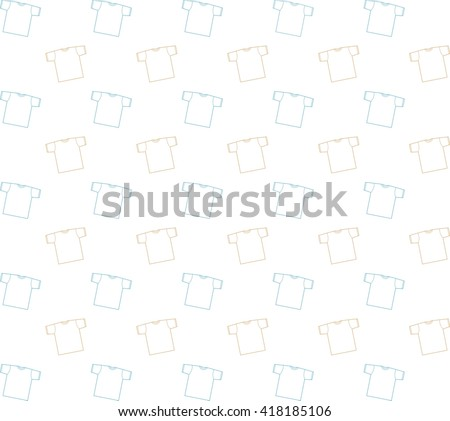 Background t-shirt vector illustration. Templates shirts  for your site. Seamless pattern with t-shirts. Bright white background - stock photo