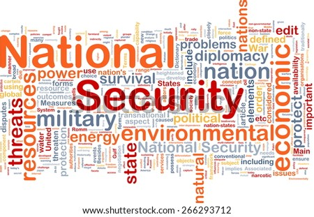 Background text pattern concept word cloud illustration of national security - stock photo