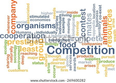 Background text pattern concept wordcloud illustration of competition - stock photo
