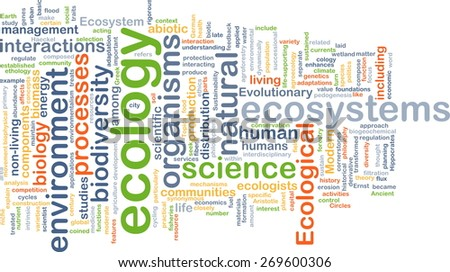 Background text pattern concept wordcloud illustration of ecology - stock photo