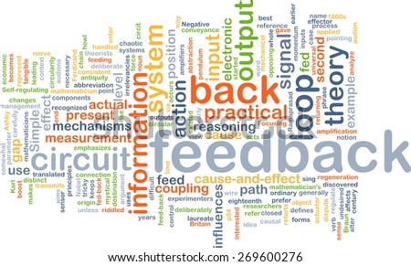 Background text pattern concept wordcloud illustration of feedback - stock photo