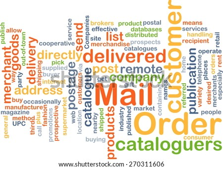 Background text pattern concept wordcloud illustration of mail order - stock photo