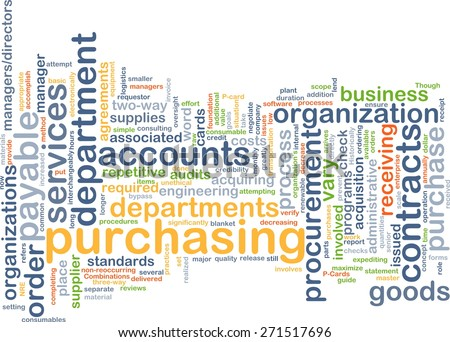 Background text pattern concept wordcloud illustration of purchasing procurement