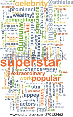 Background text pattern concept wordcloud illustration of superstar - stock photo