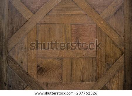Background, texture. Antique modular flooring. Natural color. The parquet. - stock photo