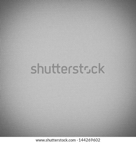 Background texture of black and white fabric closeup with vignette - stock photo