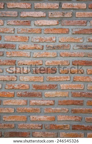 Background texture of brick wall strength.