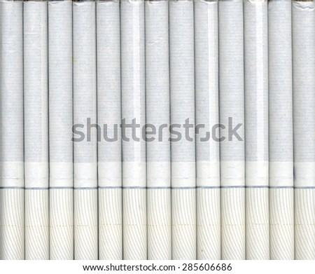Background - texture of cigarettes close-up - stock photo