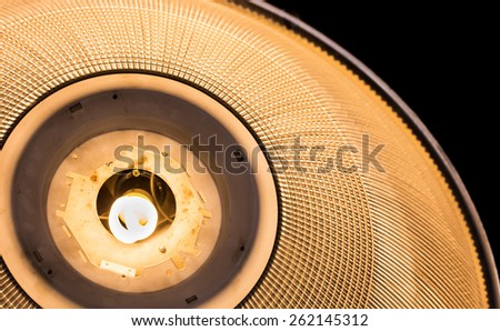 Background texture of close up lighting fixture - stock photo