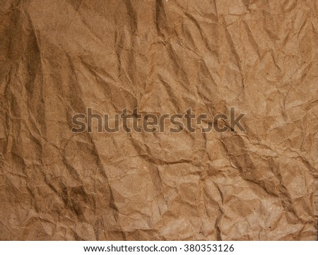 Background Texture of crumpled craft paper