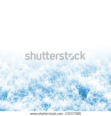Background texture of foaming ocean waves - stock photo