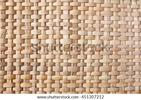 Background texture of natural-colored woven cane mat