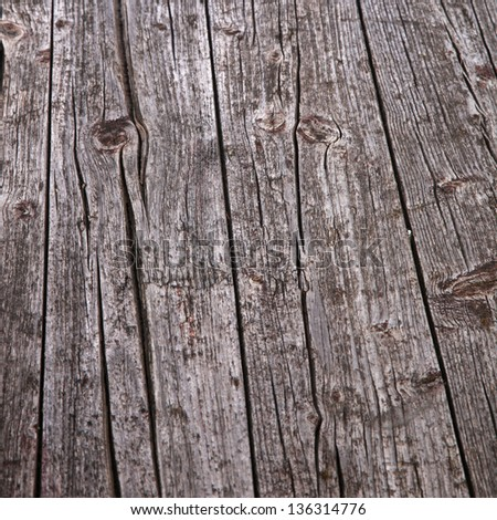 Background texture of old grunge cracked weathered wood planks - stock photo