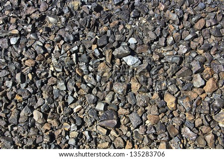 background texture of soil carbon filled - stock photo
