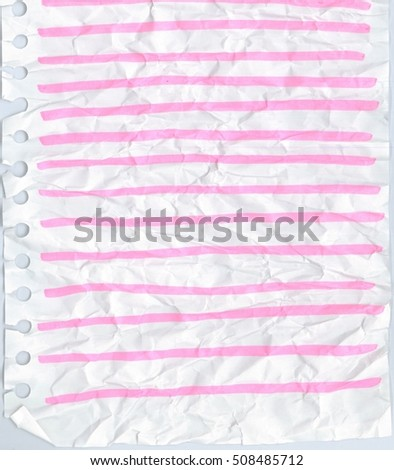 Background texture pattern of vintage paper has a  line can be written