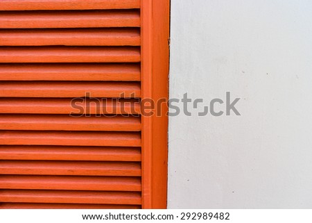 Background Texture Red Shutter - stock photo