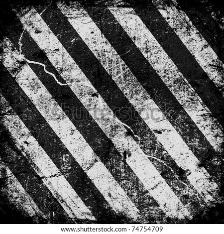 Background Texture With Common Black and white Stripes - stock photo