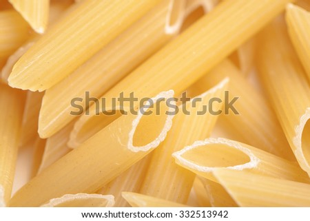 background the texture of raw pasta closeup
