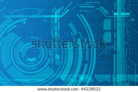 Background to use for any purpose, and presentations. It consists of concentric circles in the technological industrial style - stock photo